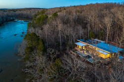 Haw River House Aerial View