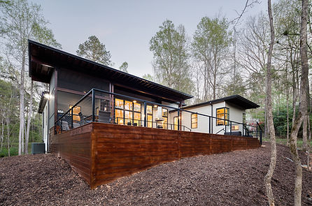 The Professor's House is cantilevered to float out over the landscape.