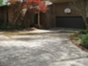 Before: This existing house had a concrete driveway for a front door.  No entry path or delineation.