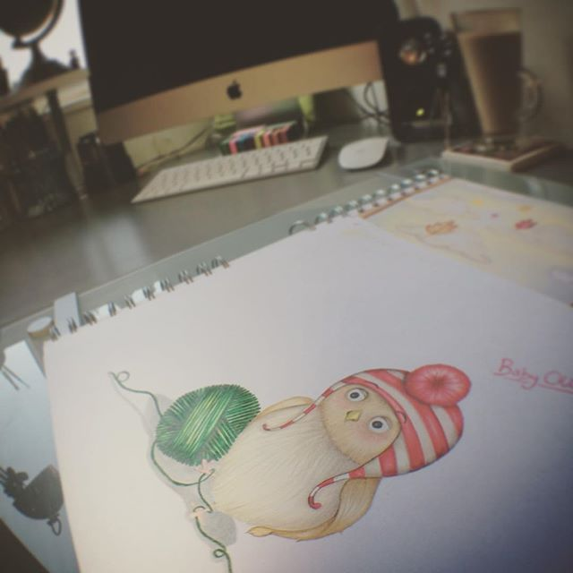 Working on something special all will be revealed soon! #ollietheowl #studiospace #childrensgifts #n