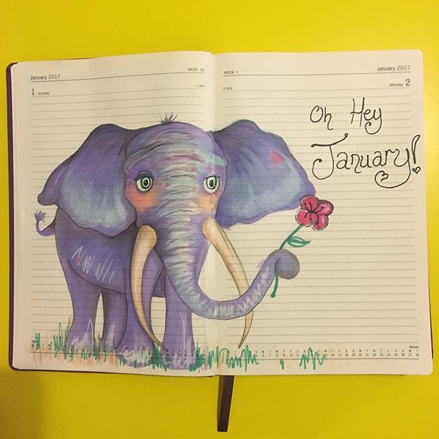 Oh hey January! This is day one and two in my Draw everyday diary! I hope you have all enjoyed your