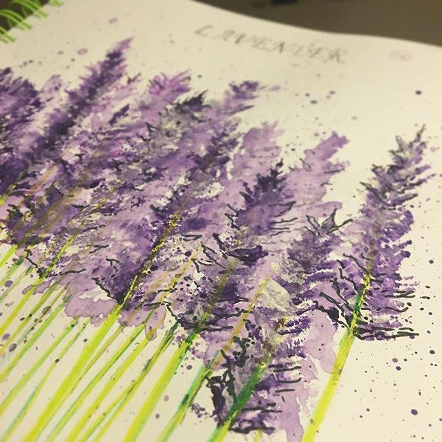 #purple #day2 #inbloom #augustdrawingchallenge #natalieann #illustration #lavender
