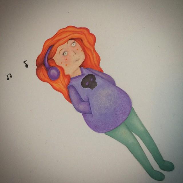 Music girly! 🎶🎶 #music #illustrationgram #natalieannillustration
