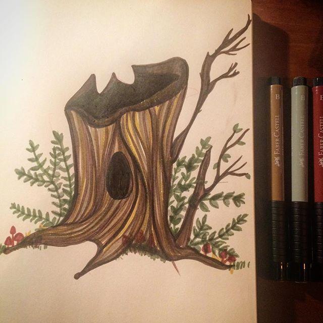#treetrunk 🌲#natalieann #ntalieannillustration #natural #nature #vegan #vegetarianfood #trees #natu