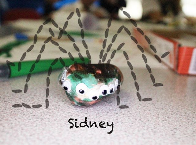 Sidney the spider #rockfriends #pebblepals
