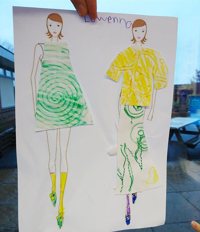 This evening the children of clent primary school did amazingly well at fashion illustration, using pattern plates and fashion illustration_