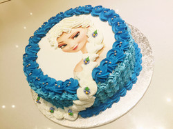 Elsa 2D Birthday Cake