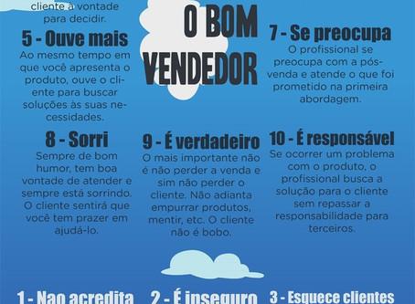 Você é um bom vendedor? ConfiraAs 10 principais diferenças entre o bom e mau vendedor!