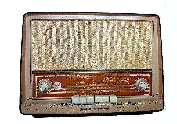 Radio de válvulas Philips ibérica totalmente operativa