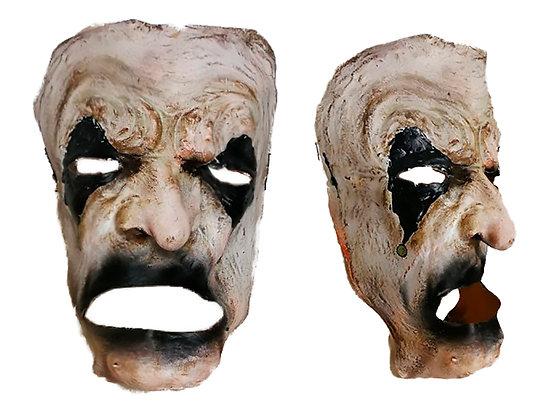 Máscara de látex cara blanca