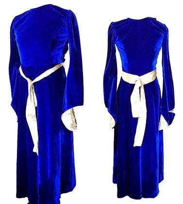 Vestido dama medieval azul