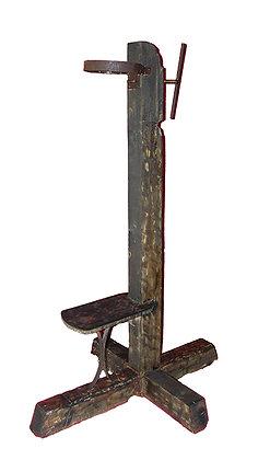Garrote Vil operativo (hierro y madera)
