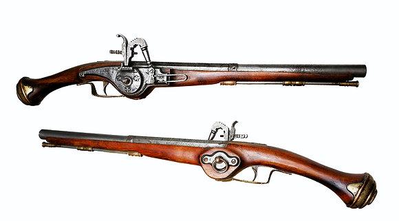 Recreación pistola de llave de rueda de caballería