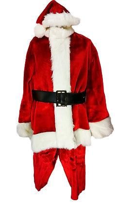 Traje completo alta calidad Papá Noel terciopelo rojo