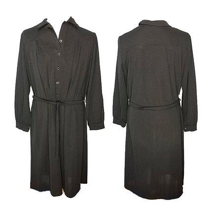 Vestido mujer negro típico pueblo años 70