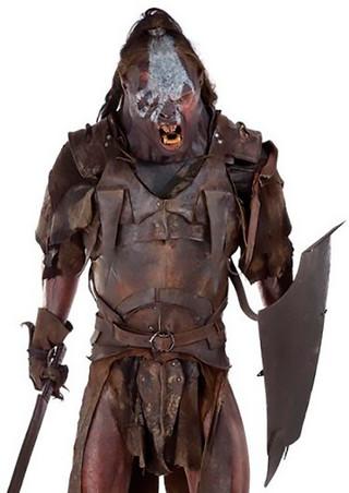 Confección en cuero armaduras Uruk Exposición Señor de los Anillos