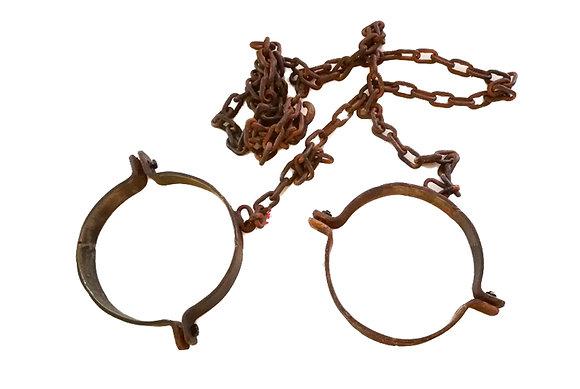 Grilletes con cadena para el cuello (dos unidades)