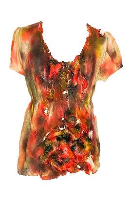 Vestido de mujer zombi