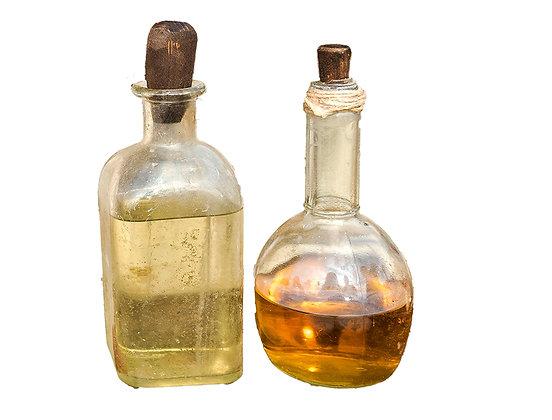 Botellas de vidrio antiguas