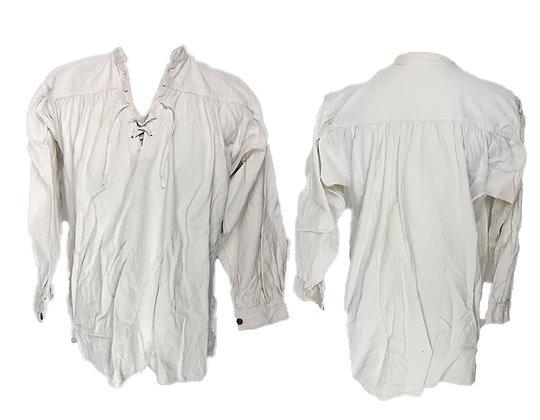 Camisa algodón recreación con cierre de cordones