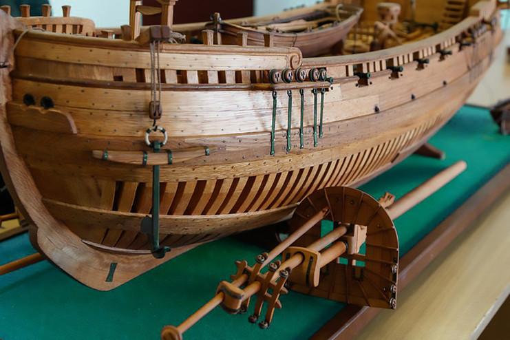 Detalle Proa Barco histórico