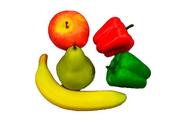 Fruta y verdura de atrezo