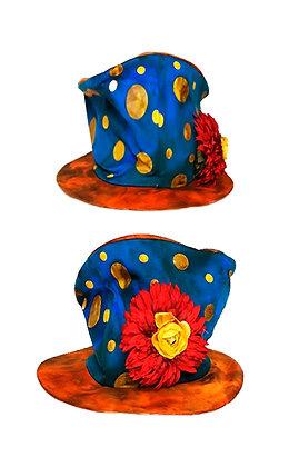 Sombrero de tela extensible payaso loco