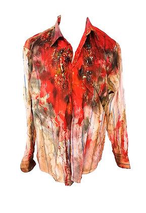 Camisa hombre ensangrentada