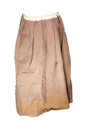 Falda larga tejido pesado