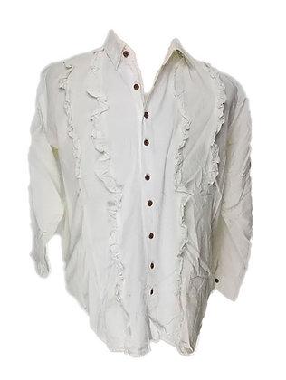 Camisa mujer con adornos en la pechera