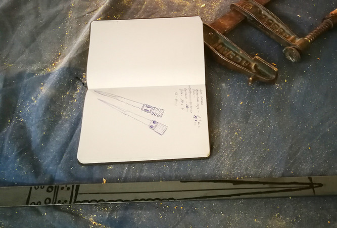 Diseño daga de vela o vizcaina S. XVI