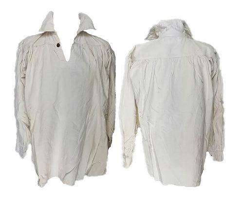 Camisa algodón recreación con cierre botón de madera talla media-grande