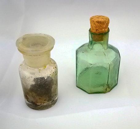 Frascos cristal farmacia 6 y 7 ctms