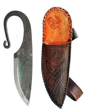 Ar 0022 Cuchillo de forja vikingo con fu