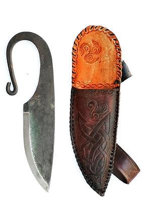 Cuchillo de forja vikingo