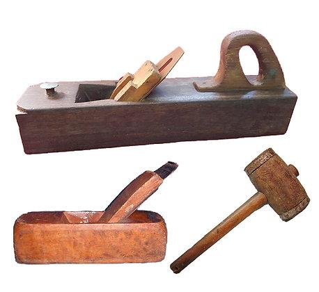 Herramientas antiguas de carpintería (juego)