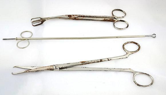 Juego herramientas quirúrgicas obstetricia (tres piezas)
