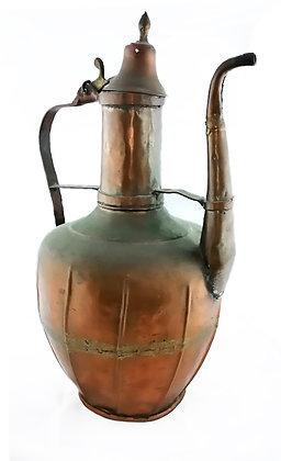 Tetera antigua de cobre gran tamaño