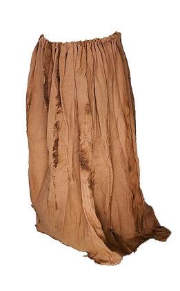Falda larga fruncida
