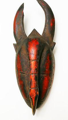 Máscara ritual africana antigua
