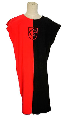 Sobrevesta rojo y negro con escudo