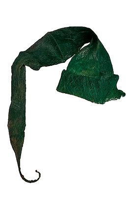 Gorro elfo verde de tejido vegetal