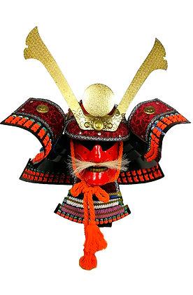 Yelmo samurai rojo y negro