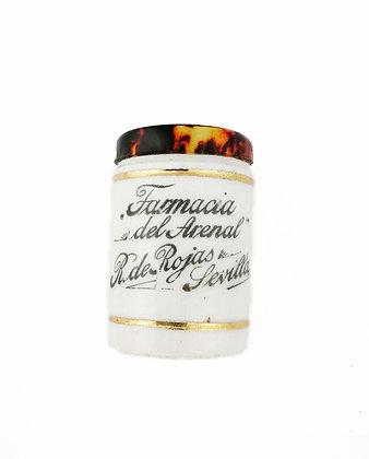 Pequeño pastillero cerámica y nácar mediados siglo XX