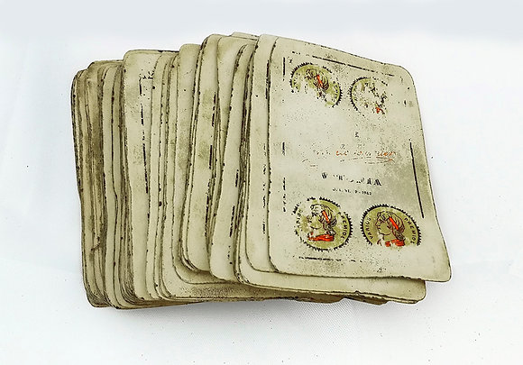 Baraja española muy vieja usada para leer tarot