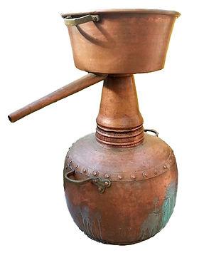 Va 0051 Antiguo alambique de destilacion