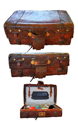 Magnífica maleta inglesa del siglo XIX