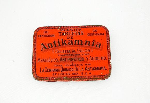 Pastillero metálico antiguo