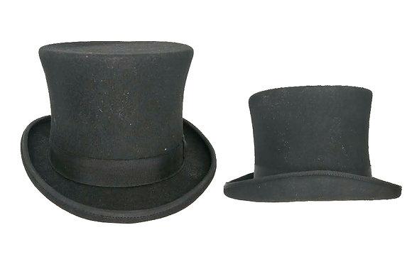 Sombrero de copa inglés original negro