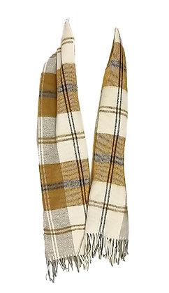Bufanda tradicional lana cuadros